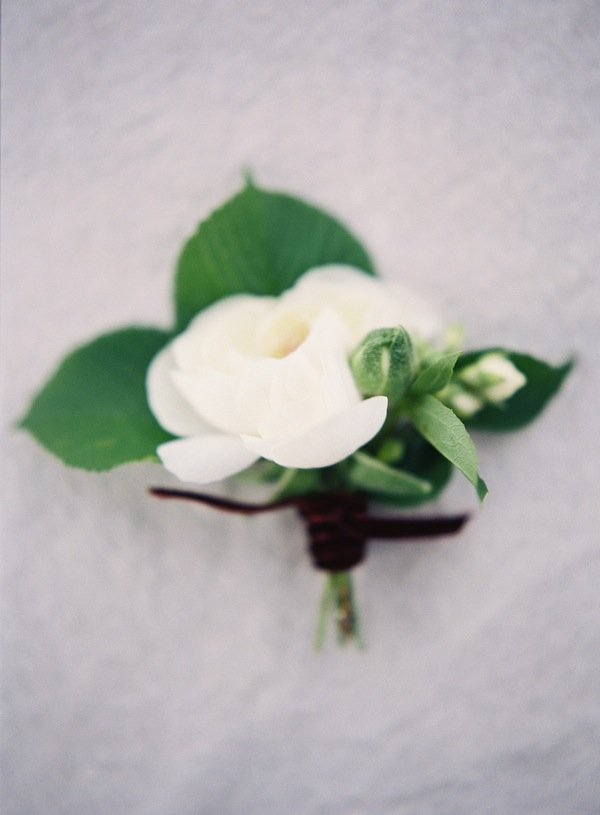 White Ranunculus Boutonniere - Winnipeg Wedding Florist