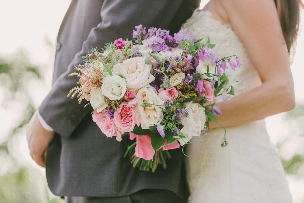 White and Pink Wedding bouquet - Winnipeg Wedding Florist