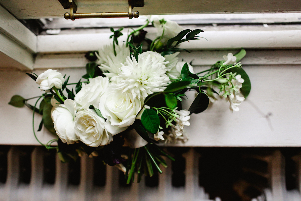 White Garden Rose Wedding Bouquet - Stone House Creative