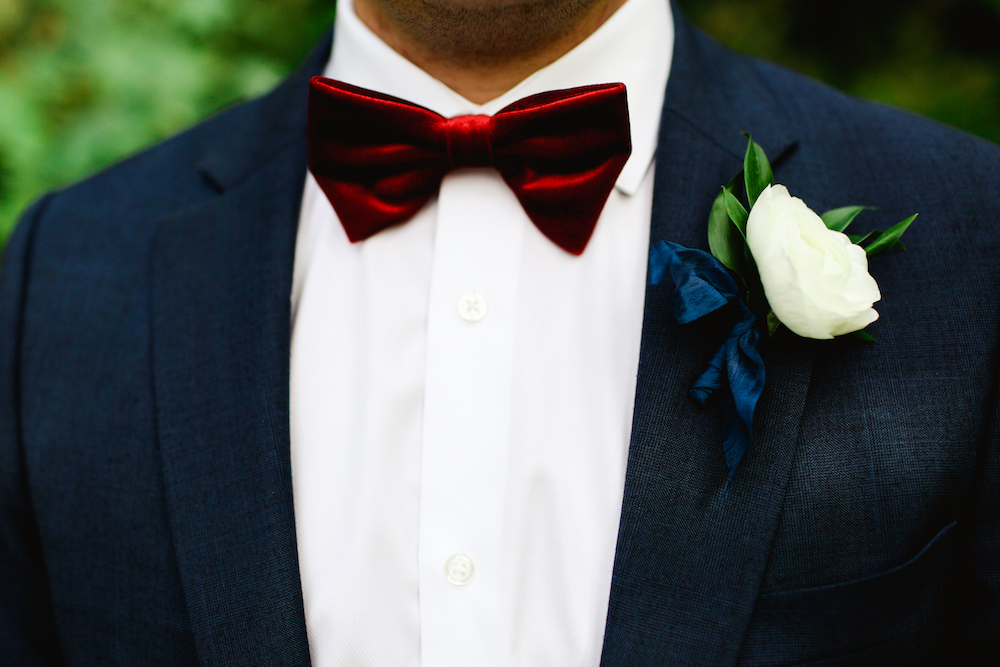 White Ranunculus Boutonniere - Wedding Flowers Winnipeg