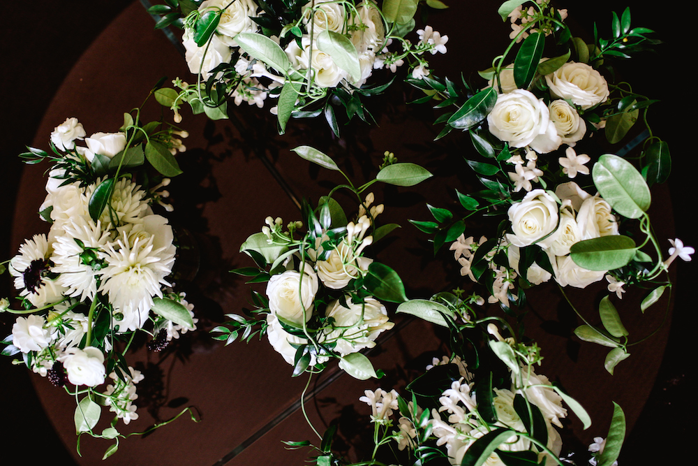 White Dahlia Bridal Bouquets - Winnipeg Wedding florists