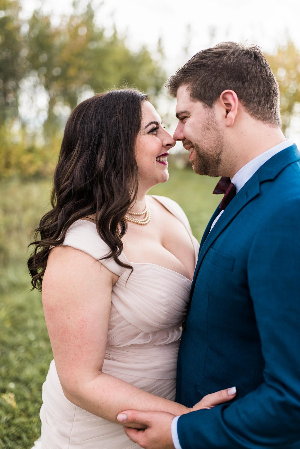 Fall Wedding in Winnipeg - Blush Bridal Gown