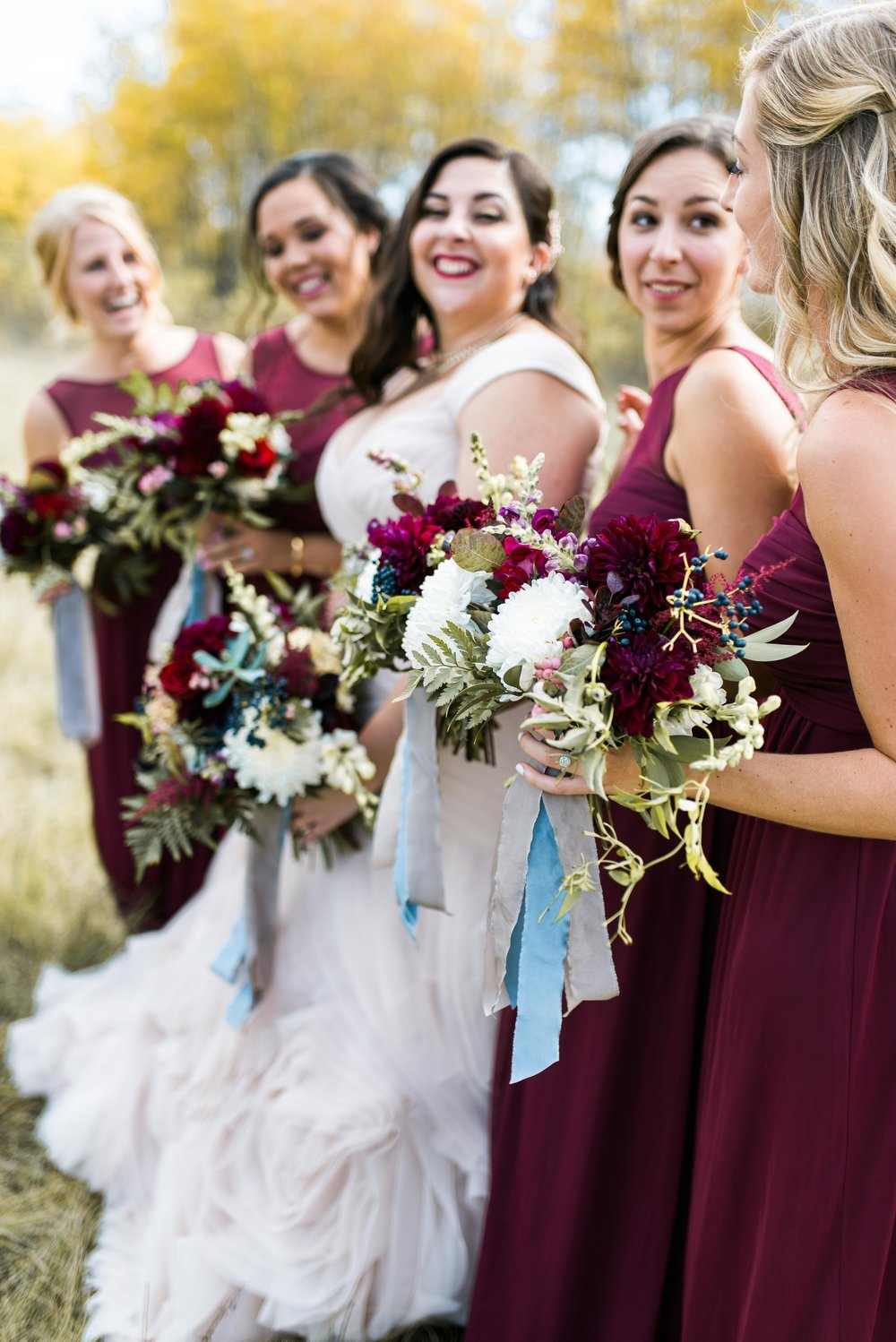 Blush and Burgundy Wedding - Fall Wedding flowers