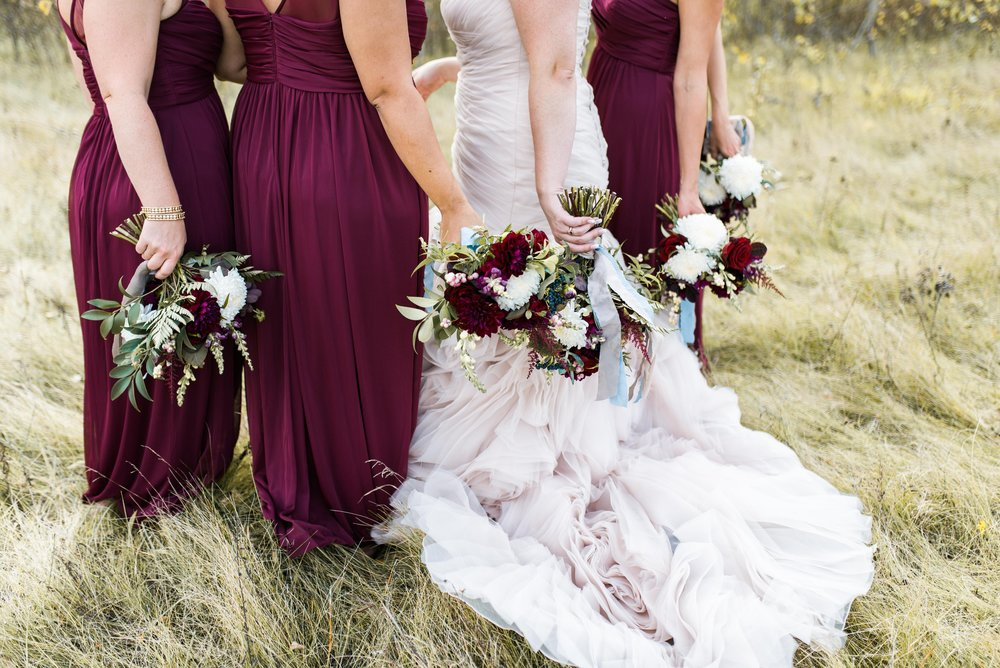 Blush and Burgundy Wedding - Fall Wedding Inspiration