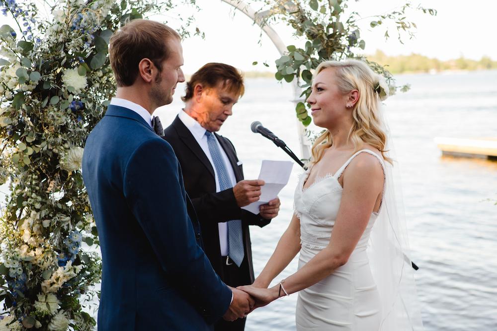 Lakefront Wedding Ceremony - Lake of the Woods Wedding