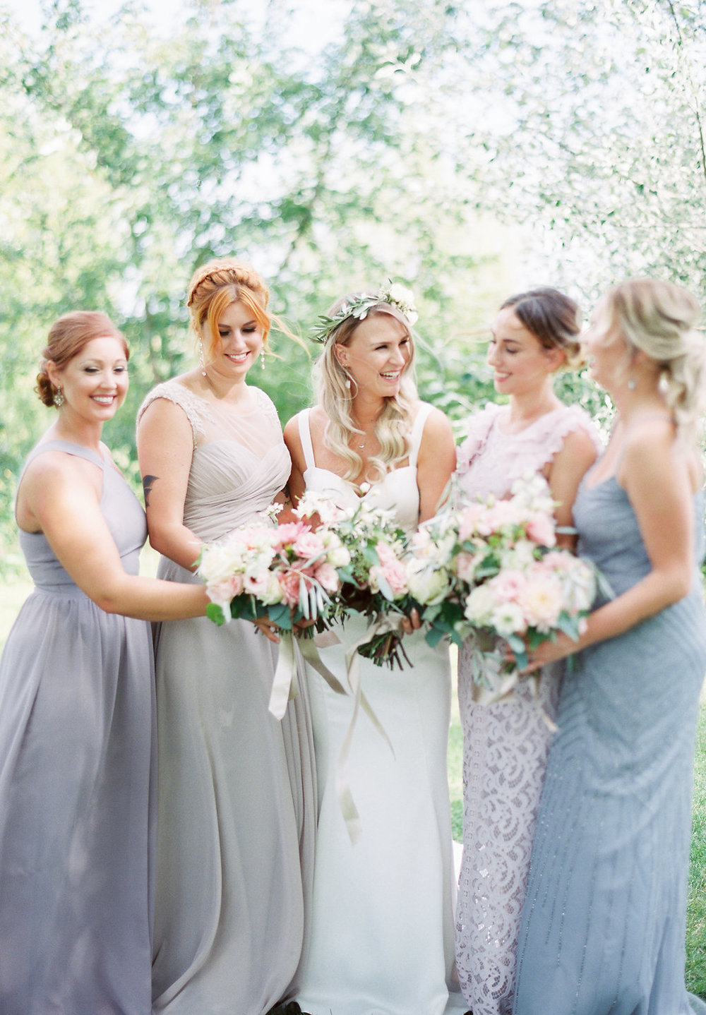 Mismatched Bridesmaid Dresses - Unicorn Wedding Ideas