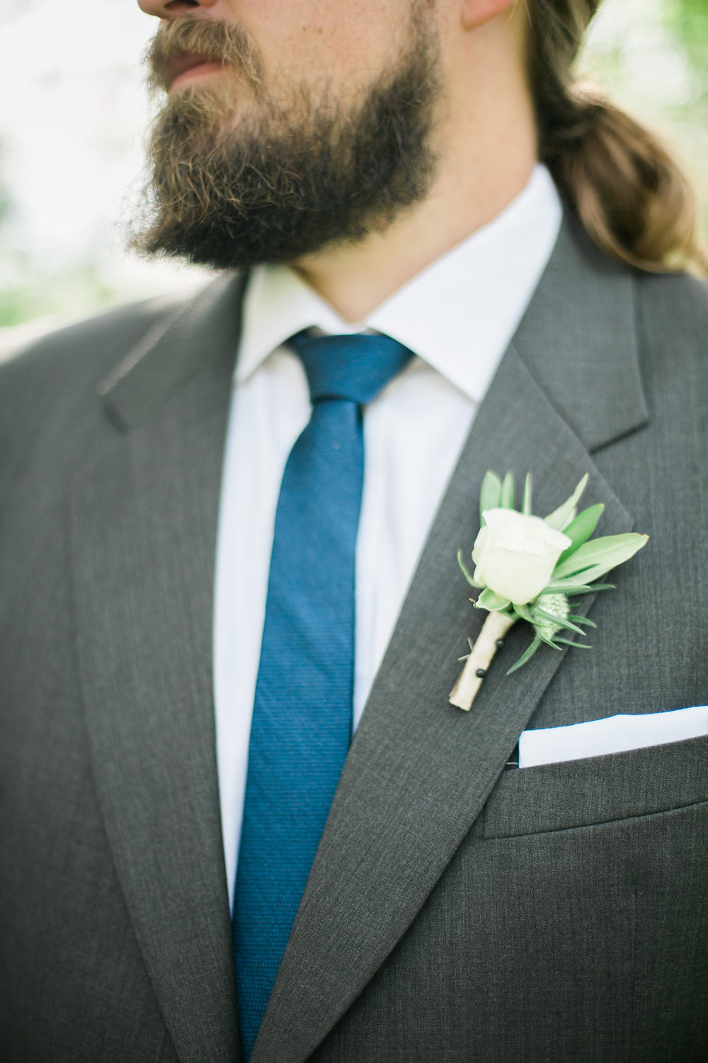 White Boutonniere - Wedding Flowers Winnipeg