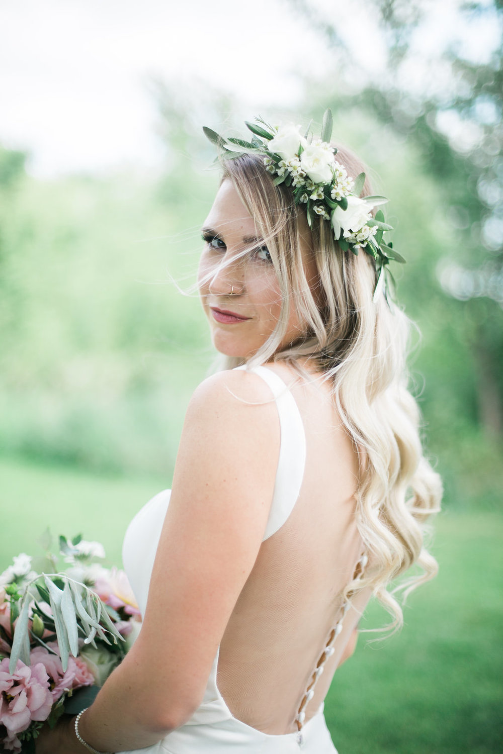 White Flower Crown - Wedding Florist in Winnipeg