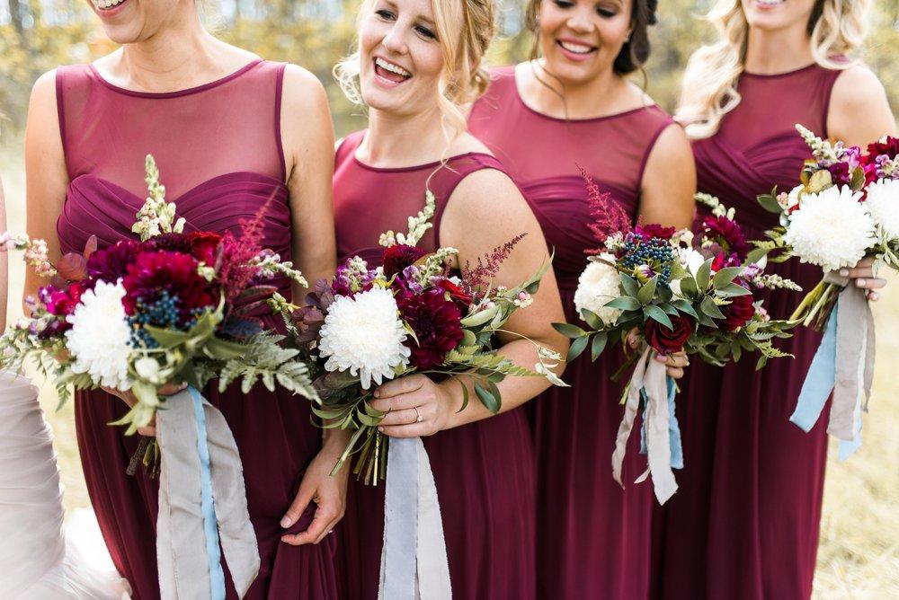 Marsala Bridesmaid Dresses - Organic Wedding Flowers