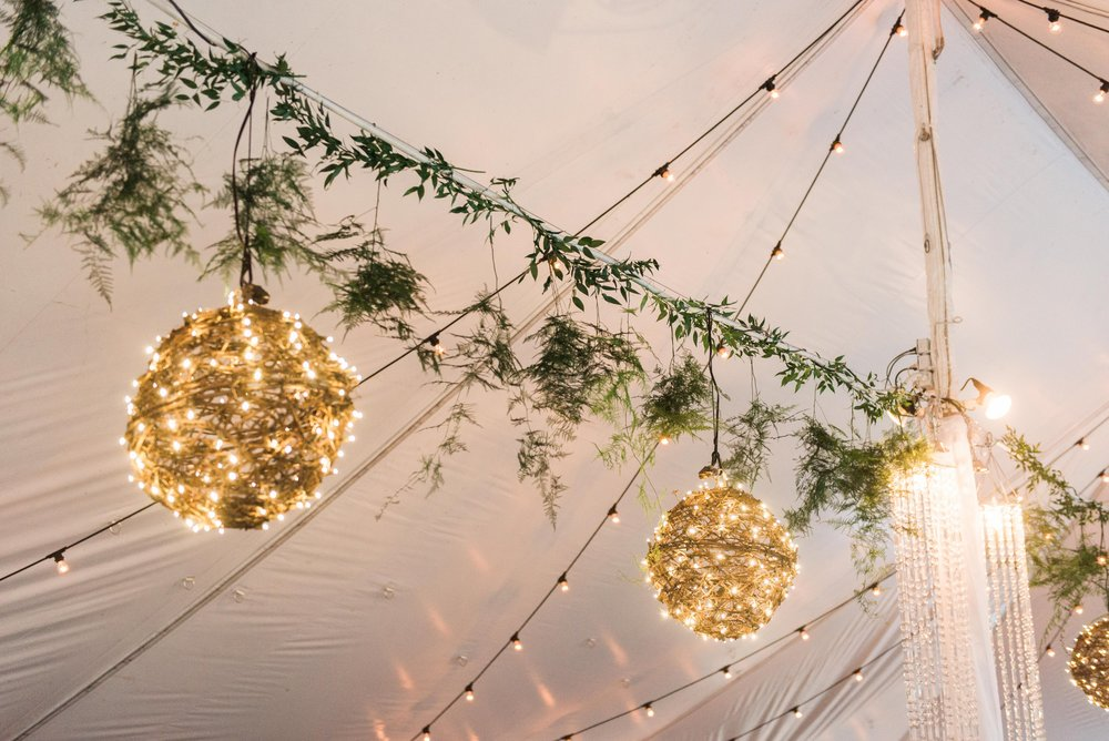 Hanging Greenery Wedding Decor - Stone House Creative