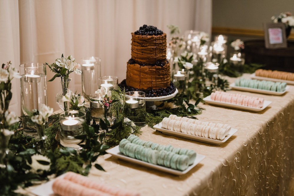 Chocolate Buttercream Wedding Cake - Winnipeg Weddings
