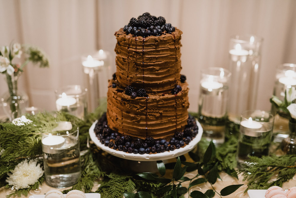 Chocolate Wedding Cake - Winter Wedding IDeas