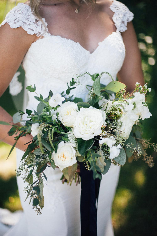 White and Green Bridal Bouquet - Wedding Flowers Winnipeg