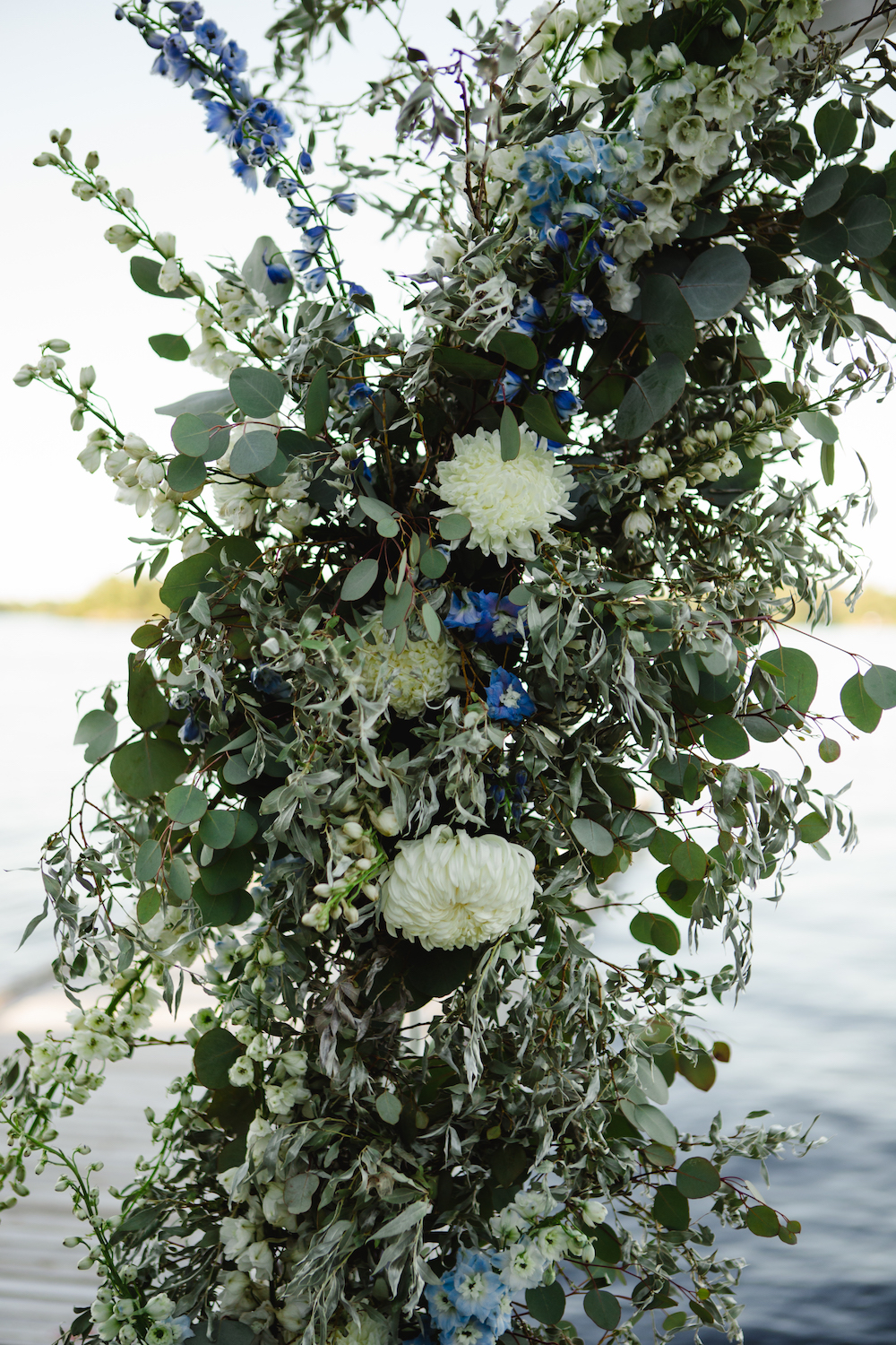 White and Green Wedding Flowers - Stone House Creative