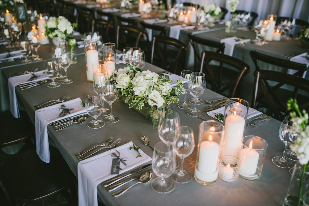 Elegant Grey and White Wedding - Wedding Flower Ideas