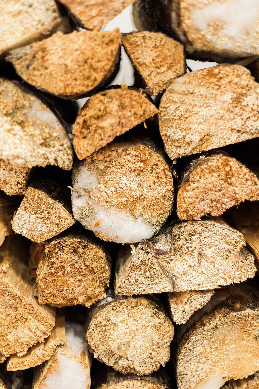 Firewood Wedding Decor - Winter Wedding Ideas