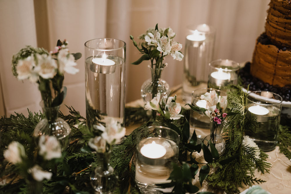 Candlelight wedding decor - winnipeg weddings