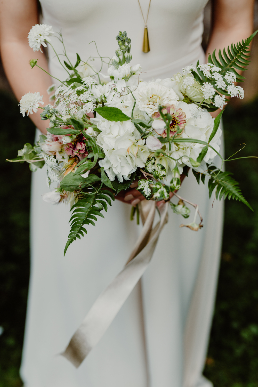 White Bridesmaid Bouquet - Wedding Florists in Winnipeg
