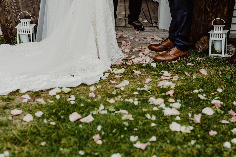Flower Petal Aisle - Outdoor Wedding Decor
