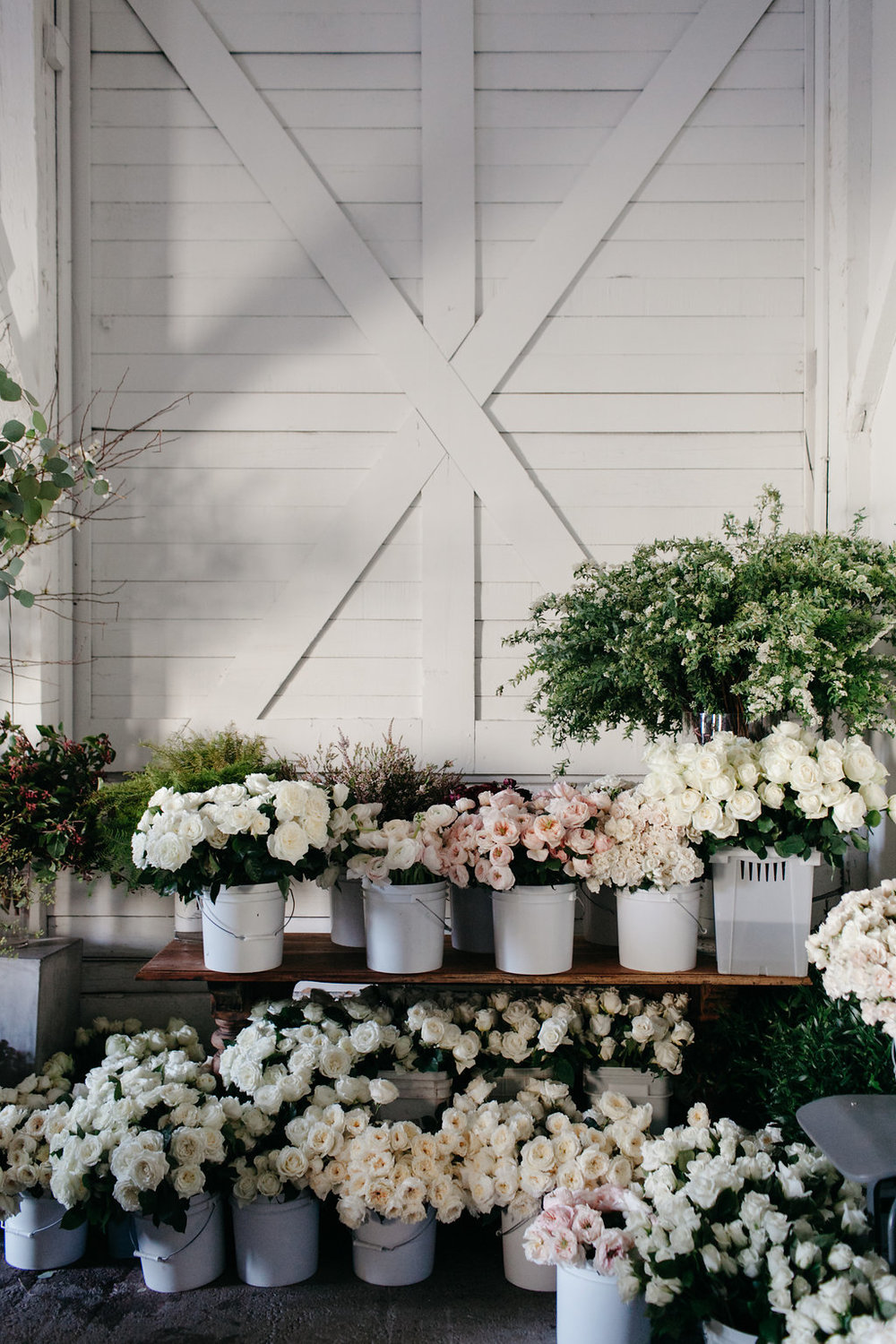 White and Pink Wedding Flowers - Stone House Creative