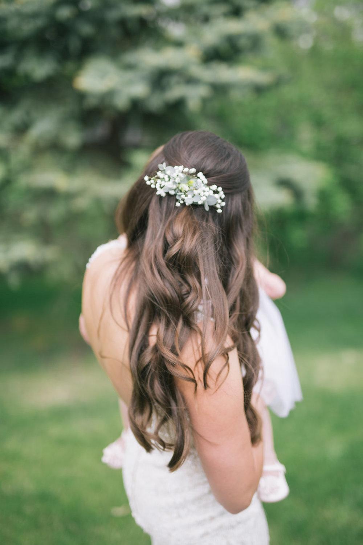 Baby's Breath Wedding Hair Piece - Wedding Flowers Winnipeg