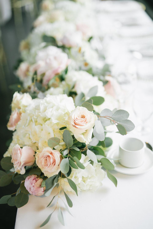 Hydrangea and Peony Garland - Wedding Flower Ideas