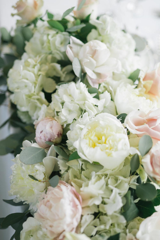 Hydrangea and Peony Garland - Wedding Flowers Winnipeg