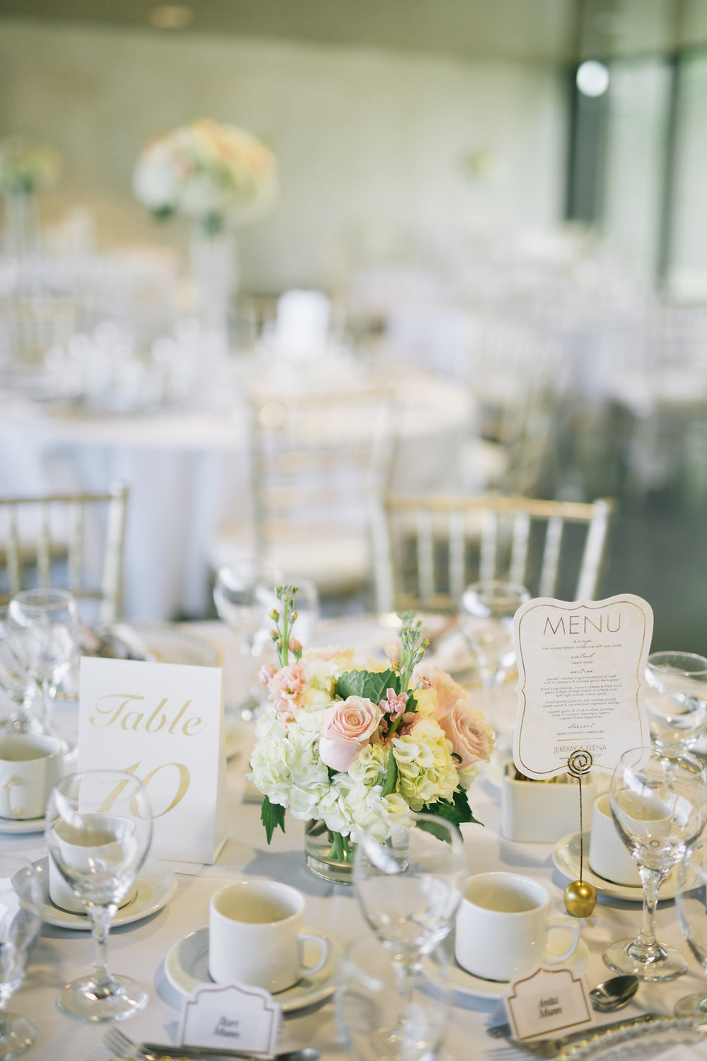 Short Floral Centrepiece - Blush Wedding ideas