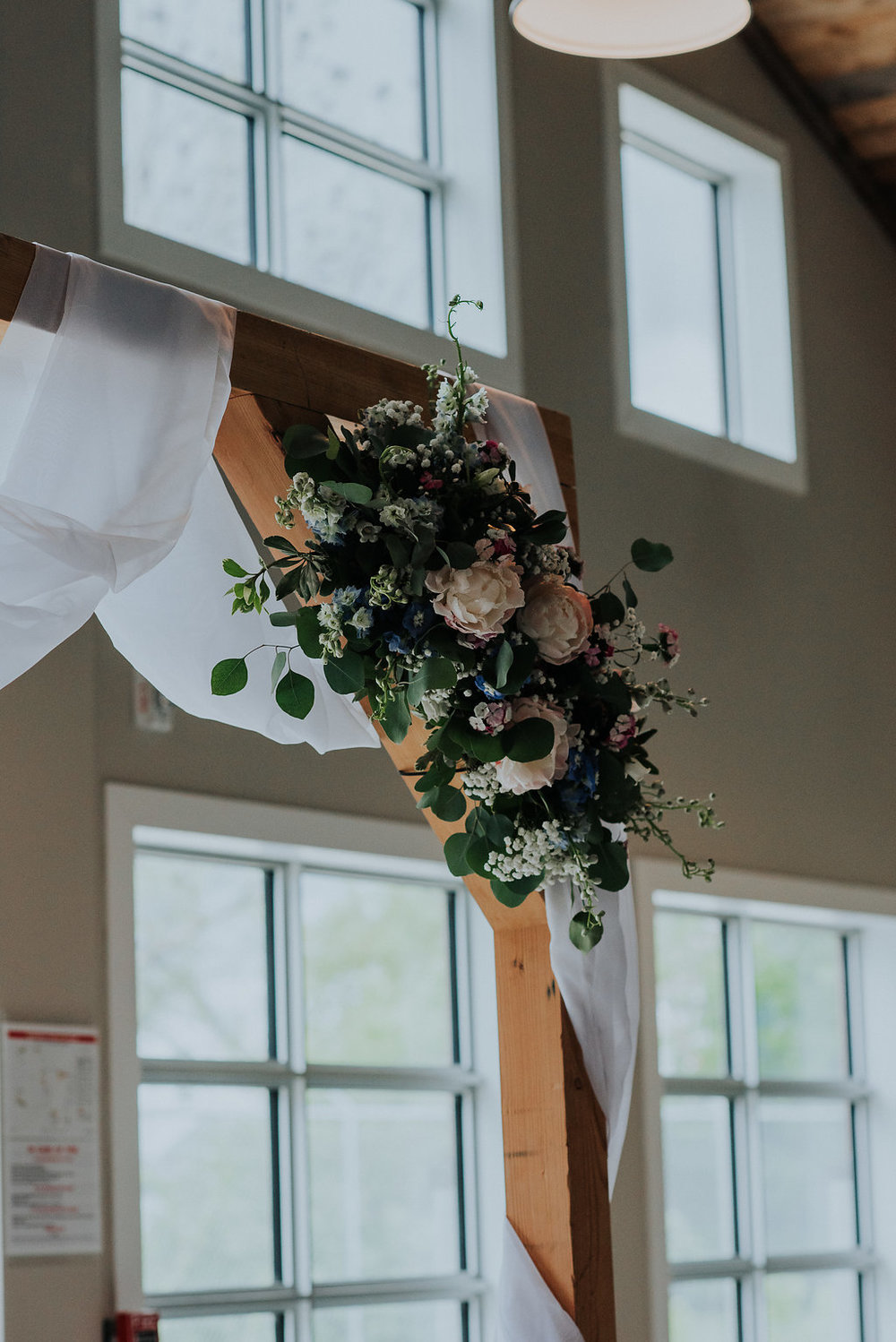 Wedding Ceremony flowers - Stone House Creative