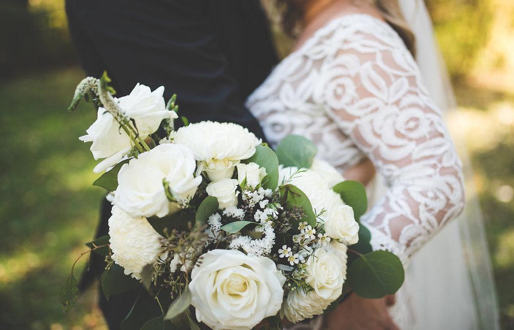 White Bridal Bouquet - Wedding Flowers in Winnipeg