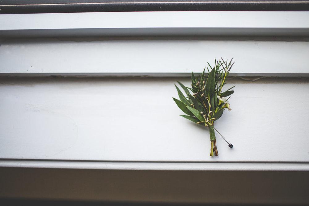 Greenery Wedding Boutonniere - Wedding Flower Ideas