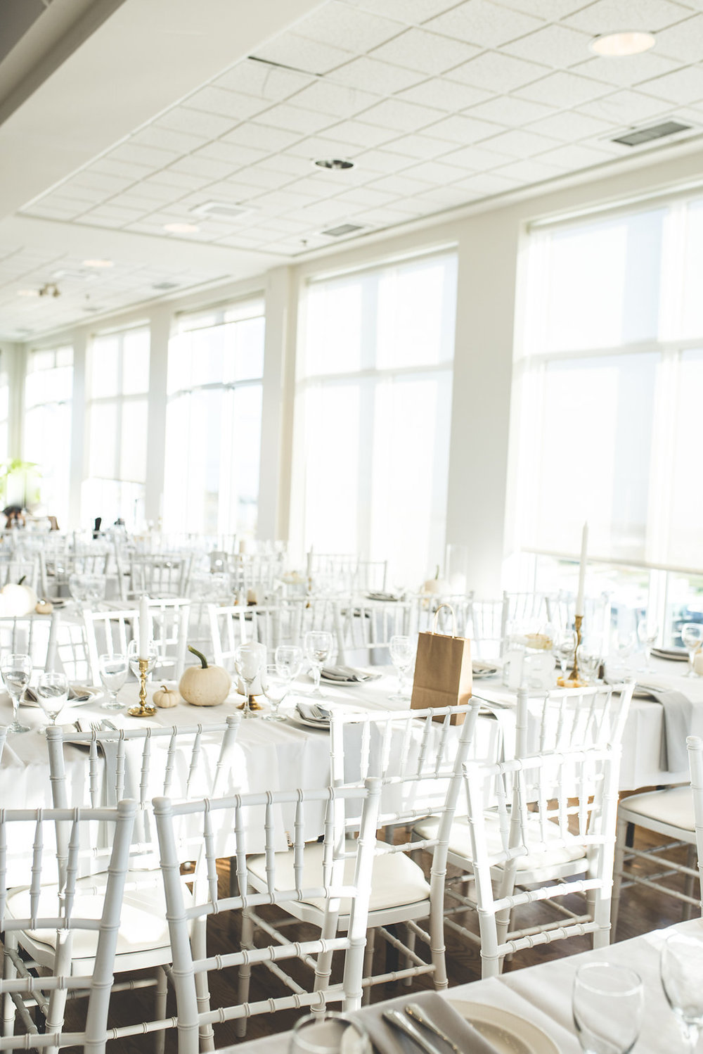 White Decor for Fall Wedding - Wedding Florist in Winnipeg