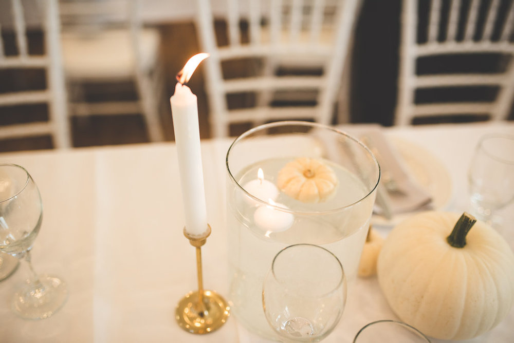 White Pumpkin Wedding Decor - Fall Wedding Ideas