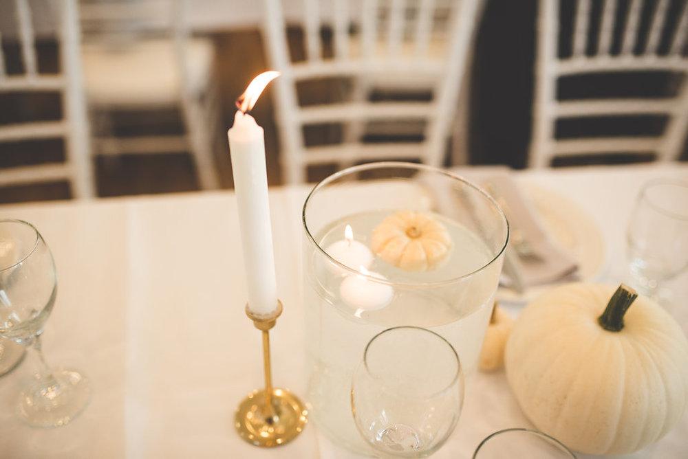 White Pumpkin Wedding Decor - Fall Wedding Ideas