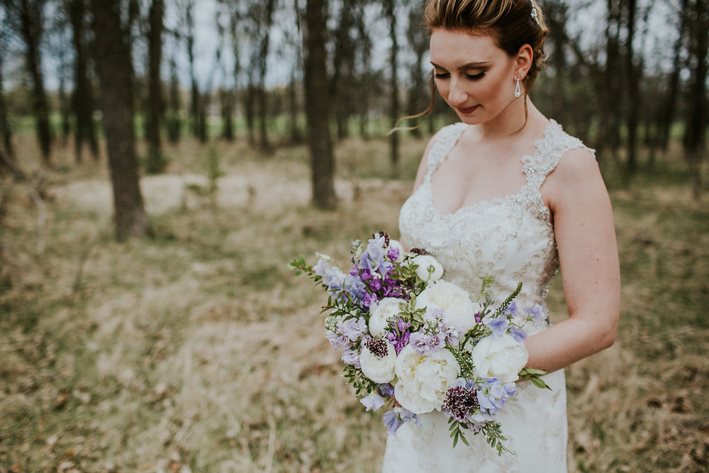Peony Springtime Bridal Bouquet - Wedding Florist Winnipeg