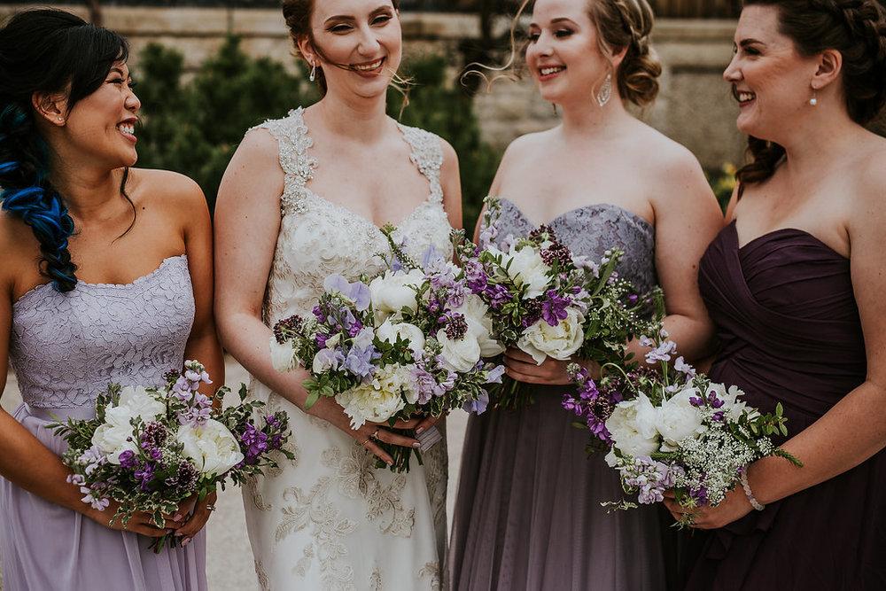 Mismatched Purple Bridesmaid Dresses - Wedding Ideas
