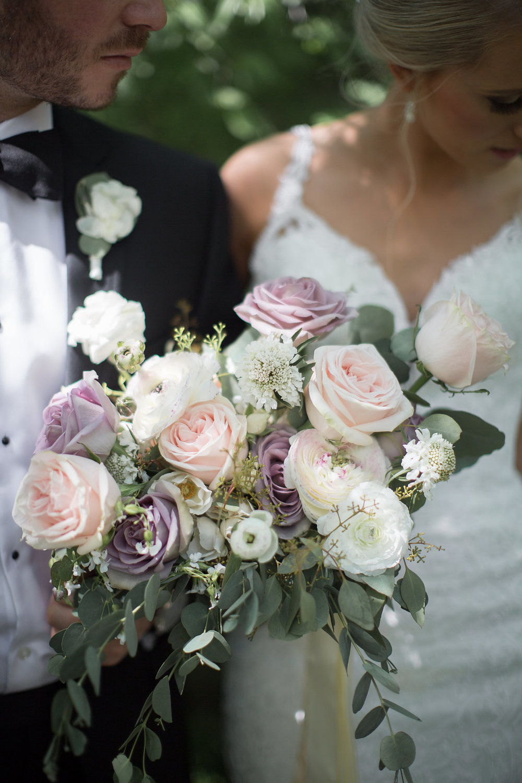 Blush and Mauve Wedding Flowers - Winnipeg Wedding Florist