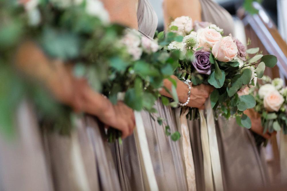 Mocha Bridesmaid Dress - Wedding Flowers Winnipeg
