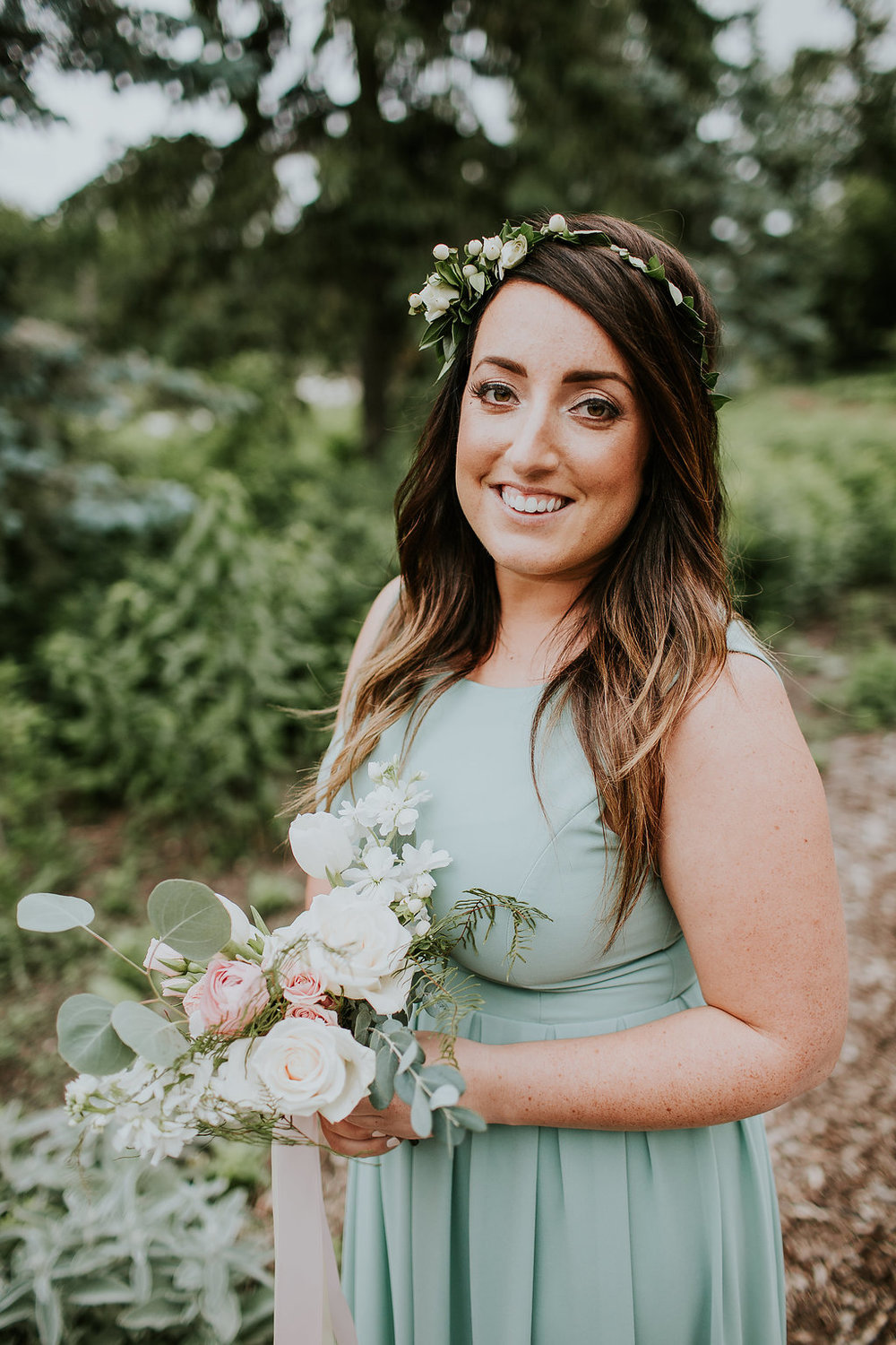 Bridesmaid Flower Crown - Wedding Florists Winnipeg