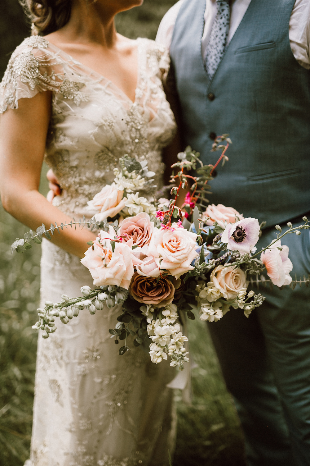 Organic Bridal Bouquet - Locally Grown Wedding Flowers