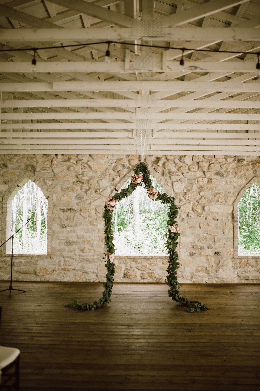 Hanging Flower Installation - Cielo's Garden Wedding