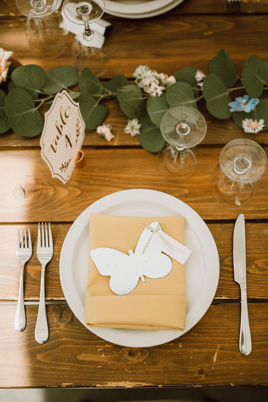 Whimsical Wedding Reception Decor - Farmhouse Table Wedding