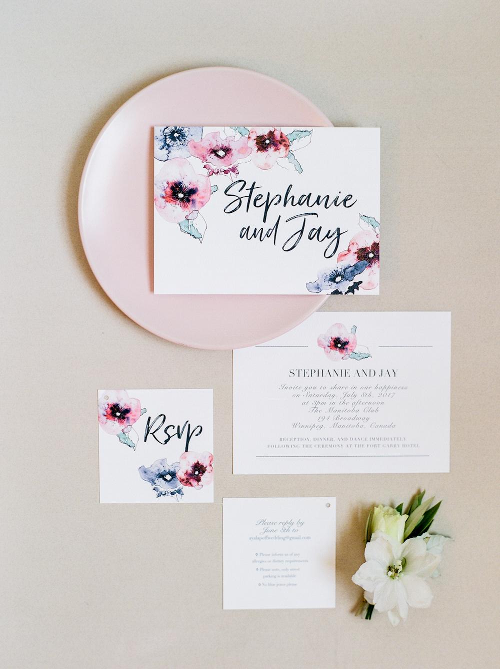 Floral Wedding Invitations - Winnipeg Weddings