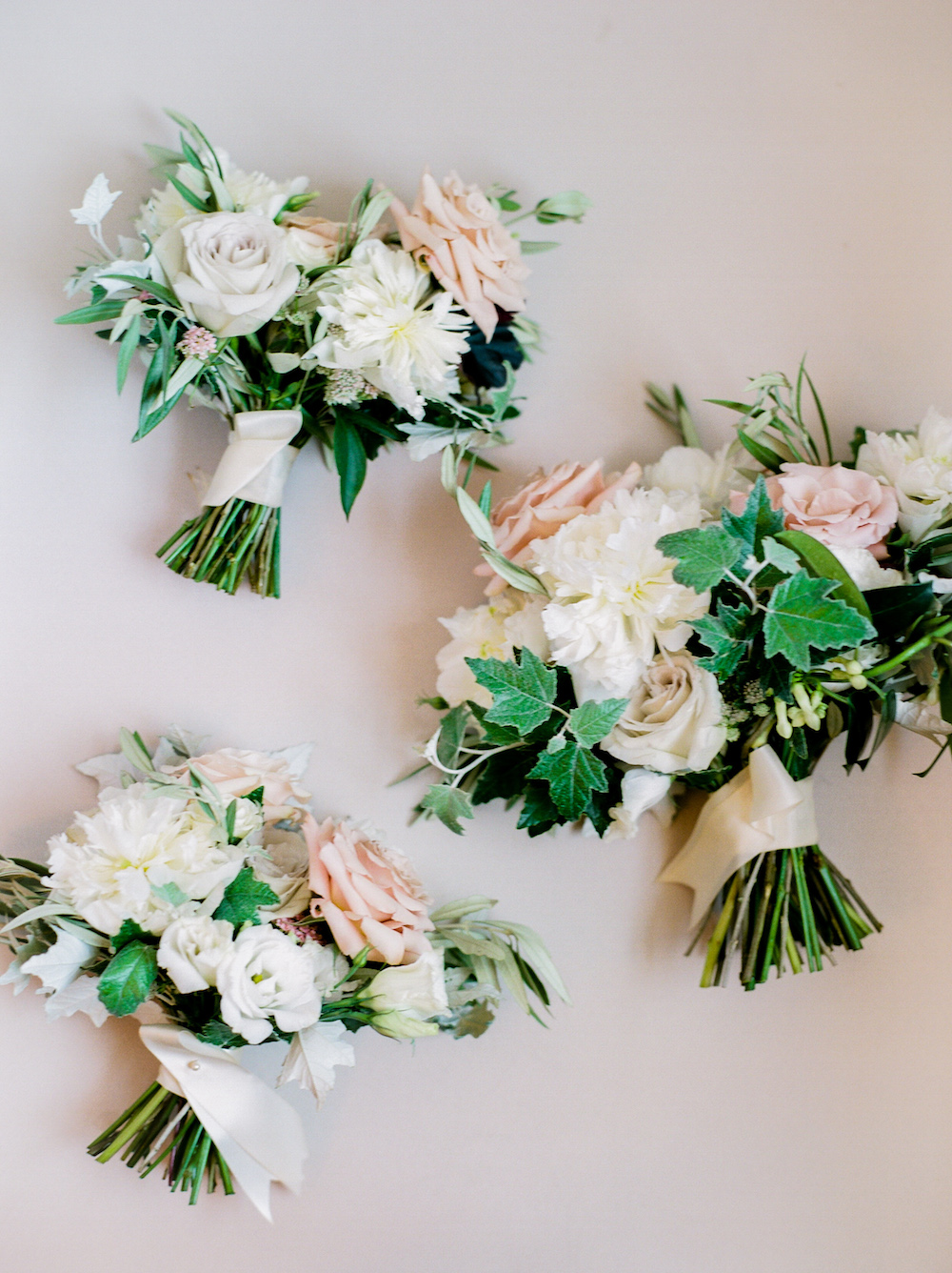 Blush and White Bridal Bouquets - Stone House Creative