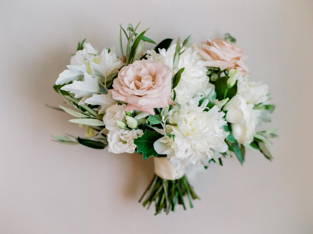Rose and Peony Bridal Bouquet - Winnipeg wedding Florist