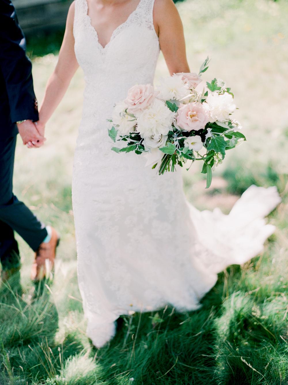 Garden Inspired Wedding Bouquet - Winnipeg Wedding Florist