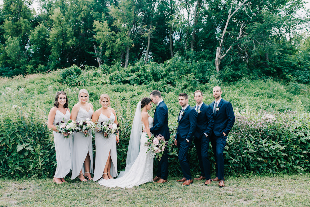 Dove Grey Bridesmaid Dress - Navy and Grey Wedding