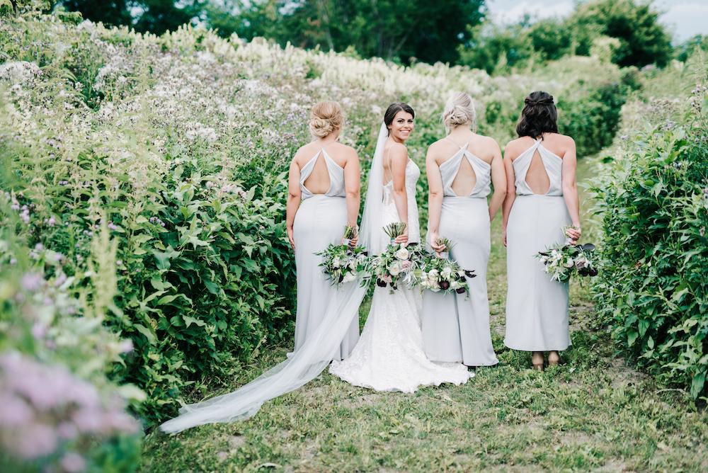 Grey Bridesmaid Dresses - Winnipeg Wedding Florist