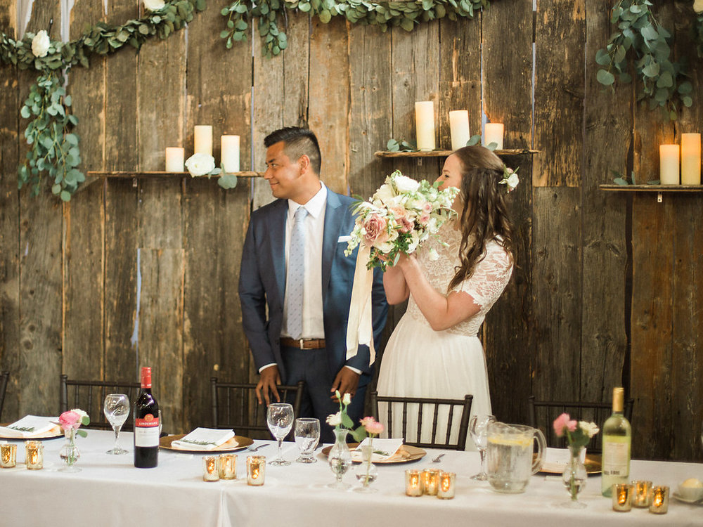 Barnwood Head Table Backdrop - Wedding Ideas