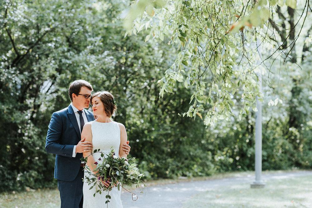 Organic Greenery Bouquet - Wedding Flowers in Winnipeg